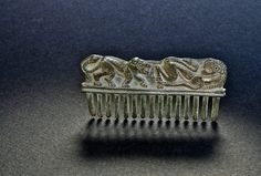 Decorative comb, Ordos type, Inner Mongolia, 2nd-1st century BCE Silver