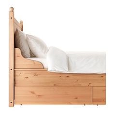 HURDAL Bed frame with 4 storage boxes - King, - - IKEA