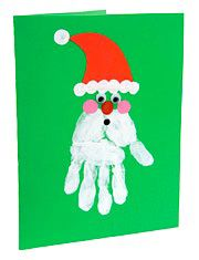 Handprint Santa Card - Things to Make and Do, Crafts and Activities for Kids - The Crafty Crow