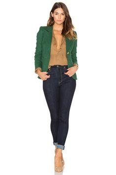 Smythe Patch Pocket Duchess Blazer em Verde Kelly | REVOLVE