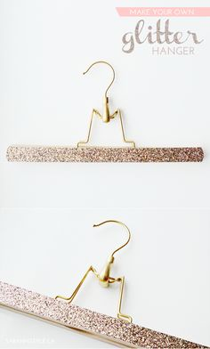 make your own glitter hanger from sarahmstyle.ca