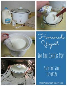 Zur Herstellung von Joghurt im Crock Pot oder Schmortopf ist einfach und kostet etwa 75% weniger als im Laden gekaufter Joghurt.