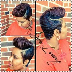 The Diva Lounge Hair Salon Montgomery, AL Larnetta Moncrief / Stylist, Owner Cute Short Haircuts, Short Black Hairstyles, Cool Hairstyles, Short Sassy Hair, Short Hair Cuts, Short Hair Styles, Hair Affair, Hair Today, Gorgeous Hair