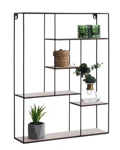 Wall shelf HEJLSMINDE black/natural - something like this so can introduce colour to walls in lounge area and greenery whilst not looking too cluttered as lots of the wall visible behind? Wall Shelves, Shelving, Hallway Storage, Tv Cabinets, Particle Board, Lounge Areas, Modern Kitchen Design, Metal Furniture, Libraries