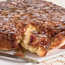 "Maple-Bacon Biscuit Bake! Here's one of the easiest, tastiest ""sticky buns"" you'll ever enjoy. Simple biscuit dough is dropped atop a sweet/salty maple-bacon-brown sugar syrup. Once baked, the biscuits are turned out of the pan upside down, so the sticky topping drips down their sides! Mmmm! Mmm! Mmmmm!"