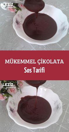 Mükemmel Çikolata Sos Tarifi Homemade Beauty Products, Chocolate Fondue, Tart, Waffles, Food And Drink, Cookies, Sweet, Recipes, Chocolate Gravy