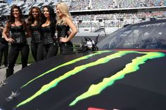Monster Energy girls take part during pre-race ceremonies during the weather delayed Monster Energy NASCAR Cup Series Advance Auto Parts Clash at Daytona International Speedway on February 19, 2017 in Daytona Beach, Florida