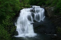 Bald River Falls in summer time.