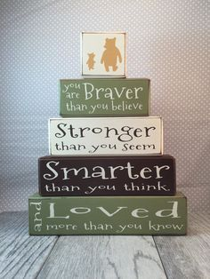 Classic Winnie the Pooh nursery decor painted by AppleJackDesign