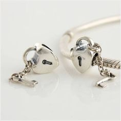 925 Solid Sterling Silver Heart Lock and Key to my Heart Charm on eBid United Kingdom only £10.80 with renscharms a beautiful valentines gift idea