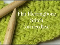 Flat Herringbone Stitch on Needles - How to Knit - YouTube
