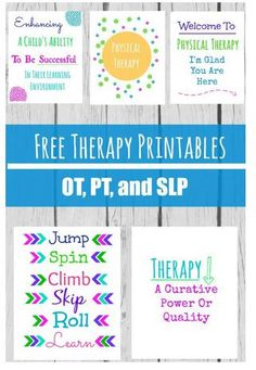 Therapy Resource of the Week: OT, PT & SLP Therapy Room Printables-pinned by @PediaStaff – Please Visit  ht.ly/63sNt for all our pediatric therapy pins