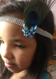 Stunning Peacock Feather Hair Clip withblue by annmariesisters3, $22.00