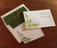 serenity letterpress wedding invitation by invitations by ajalon
