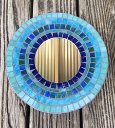 Stained Glass Mosaic Mirror/Wall by SunriseMosaicsbyBeth on Etsy