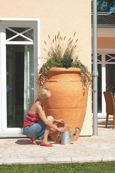 Zbiornik został zaprojektowany z myślą o wszystkich zwolennikach śródziemnomorskiego klimatu. Dzięki charakterystycznej konstrukcji antycznej wazy, możesz stworzyć w swoim ogrodzie klimat starożytnej Grecji. Poza pięknym wyglądem zbiornik AMFORA gwarantuje dodatkowe korzyści: ekologiczne – oszczędność zasobów naturalnych oraz finansowe – zmniejszone opłaty za wodę. Dlatego zamiast płacić wysokie rachunki, możesz zacząć zbierać deszcz i podlewać nim rośliny w domu lub ogrodzie.   #zerowaste Planter Pots, Plant Pots