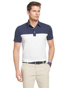IZOD Short Sleeve Colourblock Slim Jersey Polo