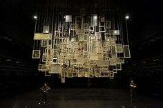 set design theatre hanging from the roof - Google Search
