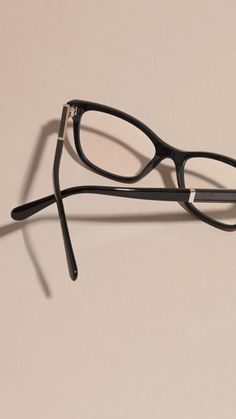 602073573eb Burberry Black Check Detail Oval BE2232 Optical Frames