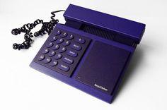 Bang & Olufsen Telephone Beocom 600 Blue Phone Corded Analogue Designer Modern Minimalist Danish 1986 Indigo 80s Vintage Retro – Sophistique Studio