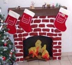 1000 images about noel creche on pinterest noel - Cheminee en carton pour noel ...