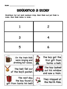 Sarah's First Grade Snippets: Polar Express Literacy Pack Freebie!