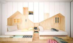 בילדאין01_ חזית שלמה של ארונות ושתי מיטות (צילום: Another Studio)