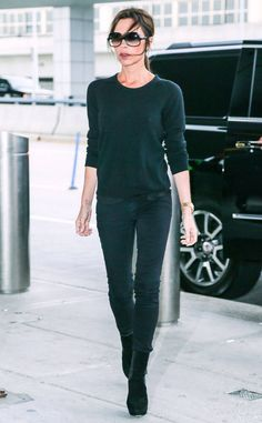 Victoria Beckham from The Big Picture: Today's Hot Photos The singer turned fashion mogul makes her way out of JFK Airport in New York City.