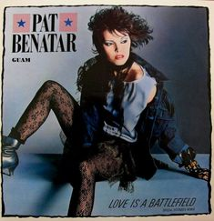 """vinyloid: """"Pat Benatar - Love Is A Battlefield """" Pat Benatar, Heavy Metal Bands, Music Covers, Album Covers, Top 10 Hits, The Wedding Singer, Pochette Album, We Will Rock You, Inexpensive Wedding Venues"""