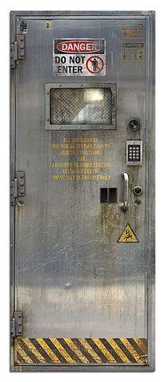 $65 sci fi door decal - Laboratory