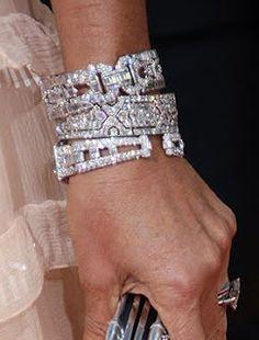 Bling of the Cartier diamond bracelet variety :-) Cartier Diamond Bracelet, Diamond Jewelry, Diamond Necklaces, Gold Necklaces, Diamond Earrings, Jewelry Box, Jewelry Accessories, Fine Jewelry, Jewelry Trends