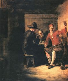 Pieter de Hooch, Hooch also spelled Hoogh or Hooghe. The Merry Drinker, c. 1650.
