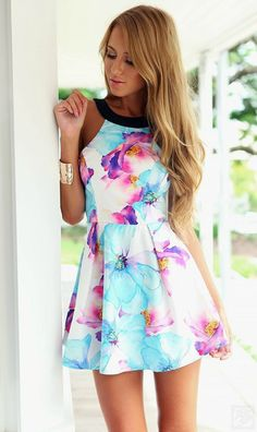 Summer Smiles Slim Flare Dress - The Chic Find