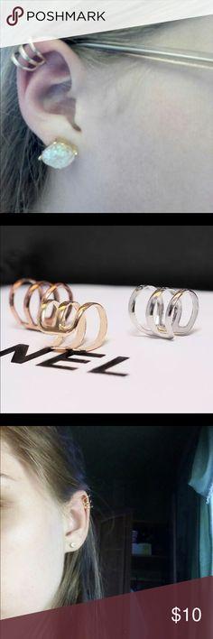 New Brincos Clip  Ear Cuff Earrings Gold/silver Gold/silver Jewelry Earrings