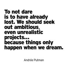 Things Only Happen When We Dream