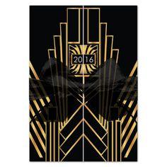 Great+Gatsby+Deco+Prom+Gatefold+Invitations