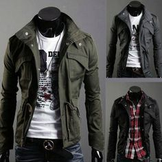 Men's Military Style Jacket. This would be awesome !