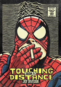Pop Icons Reimagined As Marvel Superheroes - Spiderman Joy Division