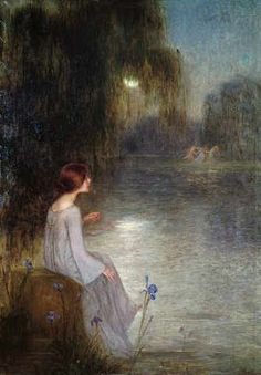 Spanish Painter (?)  Juan Bruno Viñoles / Aliases: Juan Brull y Viñolas/ Title of this work (?)  'Träumerei', 1898
