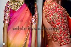 Elbow Length Blouses with Mirrors | Saree Blouse Patterns