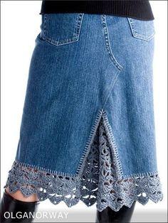 Картинки по запросу переделать старую джинсовую юбку