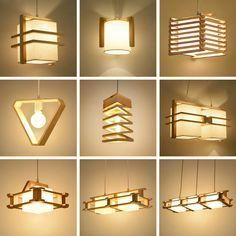 Chinese minimalist sheepskin pendant lights original variety of wood staircase corridor Restaurant Bar solid wood pendant lamp