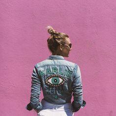 Karlie Kloss Jacquie Aiche x Mother Denim Custom Shirt
