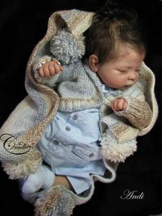 Andi Asleep & cloth body by Linda Murray - Online Store - City of Reborn Angels Supplier of Reborn Doll Kits and Supplies