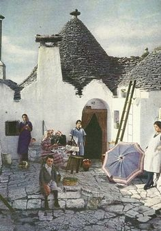 Scans from National Geographic magazines dating back to the 1888 Italia Vintage, Vintage Italy, Alberobello Italy, National Geographic Photography, Genius Loci, Interesting Buildings, Southern Italy, City Landscape, Venice Italy