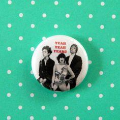 Yeah Yeah Yeahs Karen O Pin Pinback Button by NewDayRisingVintage