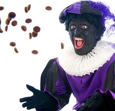 """The very now controversial """"Zwarte Piet"""" which throws sweets to the children when """"Sinterklaas"""" comes to town. Halloween, Geluk, Fictional Characters, Dutch, Sweets, School, Children, Google, Young Children"""