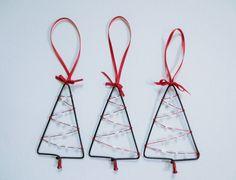 Christmas Tree Ornament Bicycle Spoke by Winterwomandesigns