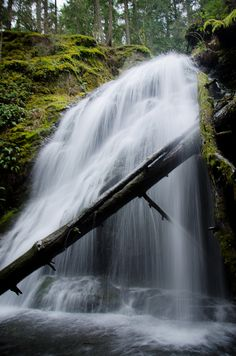 Orcas Island, Washington.  Waterfall.  Moran State Park