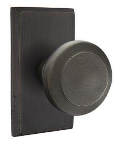 Emtek BUTTE-3 - Cast Bronze Butte Door Knobset w/No.3 Style Rosette - The Hardware Hut